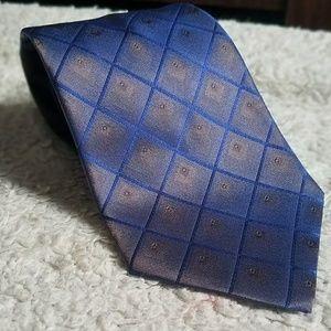 Today's Man Metallic Blue Gold Tie